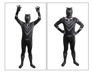 Wholesale Kids Black Panther Costume Boy Adult Black Panther Children Cosplay Jumpsuit D Print Suit Bodysuit Halloween Party Event Supplies for Child