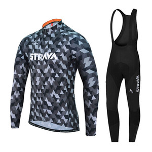 2018 strava cycling jersey Long Sleeve Cycling Jerseys clothing bicycle jersey Team bike bicycle set