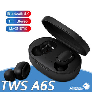 Wholesale Bluetooth Earphone TWS A6S Headphone Bluetooth Wireless Earbuds Life Waterproof Bluetooth Headset with Mic for all Goophone