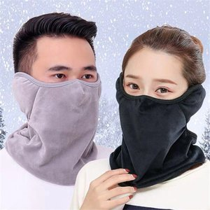Wholesale 3 in Women Men Warm Riding Face Mask Thermal Scarf Snood Neck Warmer Face Mask Hat Hiking Running Cycling Accessories