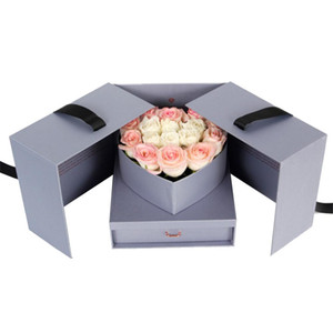 2020 New Flower Gift Box DIY Surprise Explosion Box Anniversary Gift Set For Birthday Anniversary Wedding And Valentine's Day