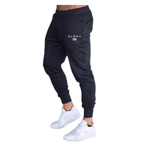 mens joggers Gyms Pants Casual Elastic Muscle cotton Mens Fitness Workout Pants skinny Sweatpants Trousers Jogger Bodybuilding Pants