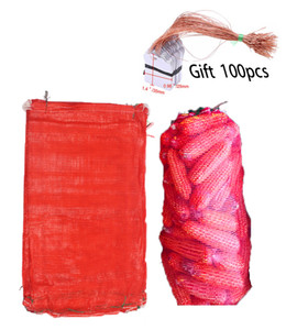 Wholesale Pack Red Mesh Storage Produce Bags Family Net Stuff sack for Garlics Potatos Apples Vegetables etc