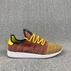 Wholesale pharrell sneakers size resale online - 2018 New arrive Pharrell Williams x Stan Smith Tennis HU Primeknit men women Running Shoes Sneaker breathable Runner Sports Shoes Size
