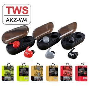 Wholesale W4 Wireless Bluetooth Earphones Headphones True Wireless Earbuds Headphone bluetooth With Mic Bluetooth Headset For Mobile phone