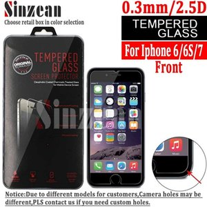Sinzean 100pcs lot 7 Tempered Glass Screen Protector For Iphone 8 7 6 6s Retail Package Available J190505
