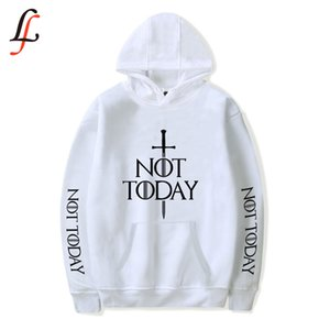 Wholesale Arya Stark Not Today Software New Hoodies Sweatshirt Harajuku Women Men Popular Clothes Casual Hot Sale Hooded XL