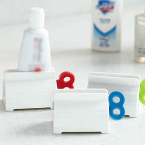 Wholesale plastic toothpaste squeezer resale online - Toothpaste Tube Squeezer Stand Hanging Holder Toothpaste Cleanser Extruder Clamps Toothpaste Clip Rolling Toothpastes Dispenser EEA1340