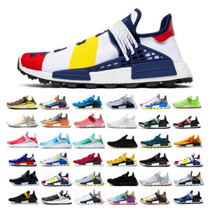 Wholesale 2019 NMD Human Race Hu Trail Pharrell Willams BBC Mens Designer Running Shoes for Men Casual Trainers Women Off Brand Sports Sneakers