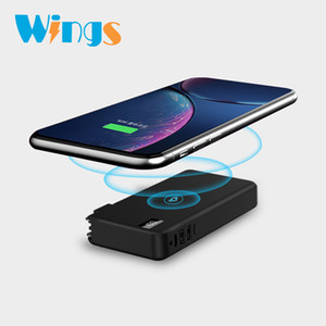 Wholesale WYS Portable Outdoors Wireless Charging Powe Bank mah Charger Power Bank for S8 Mobile Phone Tablet PC External battery