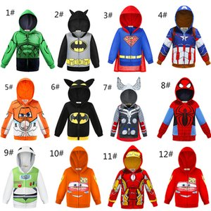 Wholesale Baby Hoodies super Hero coat Kids Cars Planes Sportswear Little Boy Tracksuit Halloween Makeup Evening party Kids Jacket clothes WD950866