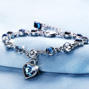 Wholesale Crystal Heart Bracelet Heart Sheap Stone Diamond Love Bracelet New Design Fashion Wedding Jewelry Gift for Women Will and Sandy