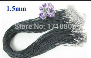 Wholesale Hot mm cm Black Rubber Pendant Necklace Cord String Strap Accessories Fashion Women Jewelry Holiday Gifts D122