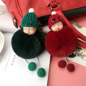 Wholesale Plush Doll Baby Key Chains Fashion Bag Pendant Keyring Soft Ornaments Ball Keychain Lady Girl Gifts Lovely Popular ty N1