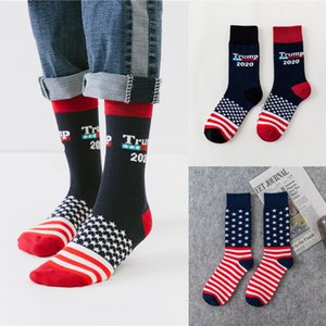 US Trump 2020 Sports sock 4 styles trump USA Flags Pattern Lovers stocking Fashion Hose Fit Men Woman AJY679