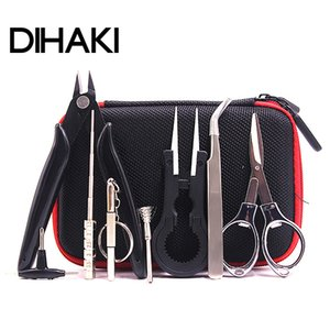Wholesale Mini Vape DIY Tool Set Bag Tweezers Pliers Wire Heaters Kit Coil Jig Winding For Packing Electronic Cigarette Accessories