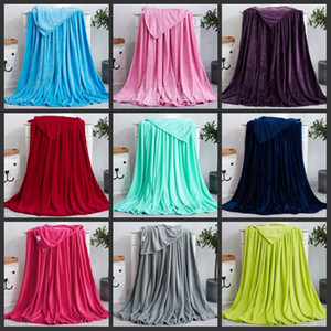 Wholesale flange for sale - Group buy Solid Color Blankets Pet Blankets Coral Fleece Blanket Subgift Air Conditioning Blankets Customized Flange Blanket Yoga Blanket Winter Warm