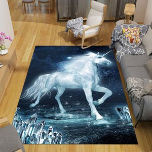 Nordic 3D Unicorn Carpet Cartoon Animal Bedroom Area Rugs Kids Play Mats Boys Girl Room Game Carpets for Living Room Child Gifts