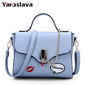 Fashion Summer Female Tote Bags Satchel PU Leather Sweet Lipstick Handbags for Women Femininas Gray Beige Purse 2018 LL269