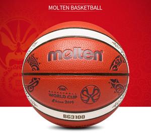 Newest Molten FIBA China 2019 Basketball World Cup basketball size 7 Indoor outdoor PU game training basketball ball BG3100 gift box