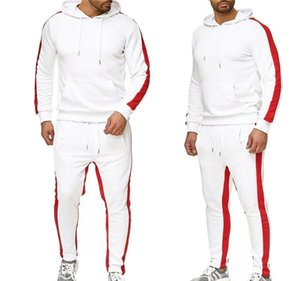 Hip Hop Designer Mens Tracksuits Solid Color Hooded Pullover Mens Suits Casual Sport Mens 2PCS Sets