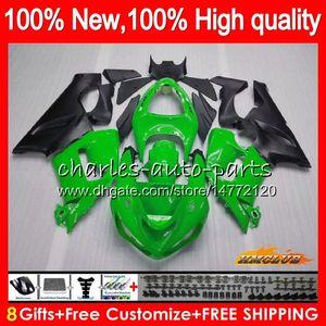 OEM Body For KAWASAKI ZX 636 600CC 6 R ZX-600 ZX636 05 06 35HC.154 ZX600 ZX-6R ZX-636 600 CC ZX6R 05 06 ZX 6R green stock 2005 2006 Fairing