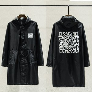 Jackets Men and Women Vetements QR Oversized Code Raincoat Clothes Streetwear Coats Waterproof Windbreaker Bomber Jacket Vetements on Sale
