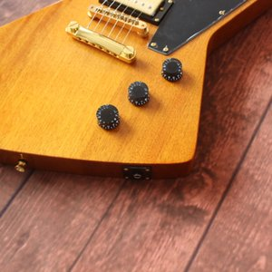 Free shipping Transparent yellow Mahogany body Rose wood Fingerboard 22 frets 6 string electric guitar