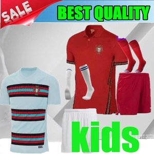 Wholesale 2020 European Nations Cup Portugal away Kids RONALDO Soccer Jerseys Portugal home red Child EDER J MARIO PEPE J MOUTINHO boy Jersey