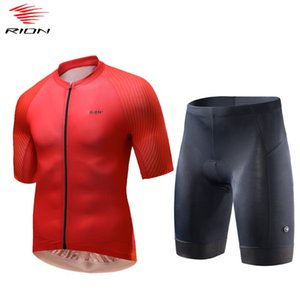 RION 2020 Men Cycling Jersey Set Summer Gel Pad Bicycle Shorts Breathable Mountain Bike jersey Cycling Clothing ropa ciclismo