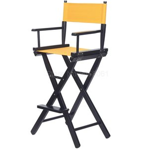 Wholesale wood chair legs resale online - Solid Wood Folding Chair High legged Makeup Chair High legged Director Bar Portable Folding Canvas Chair