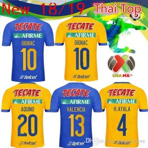 Wholesale 2019 new Tigers UANL home Vargas Soccer Jerseys Tigers UANL yellow Gignac Soccer Shirts Mexico league Football Uniforms