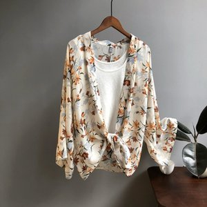 Wholesale Mooirue Spring Summer Women Floral Blouse Printing Long Cardigan Sunscreen Clothes Thin Feminina Korean Cardigan