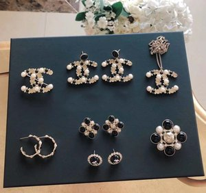 Wholesale Hot sale top quality Women charm stud earring with black and white diamond for women wedding jewelry gift PS5608