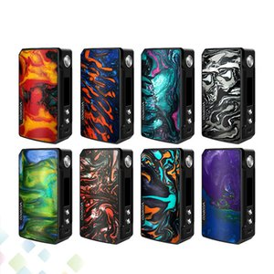 Wholesale Original Voopoo Drag Box Mod W Thread Fit Dual Batteries Vape E Cigarettes OLED Screen GENE Chip DHL Free