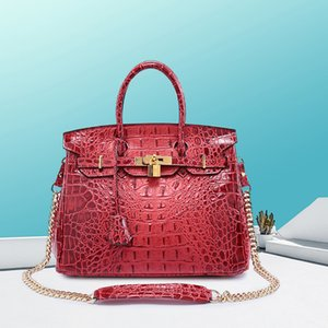 Wholesale Wild2019 Leather Genuine Wind Woman Crocodile Grain Package Ma'am Handbag
