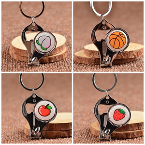 Round Multi Function Keychain DIY Triple Small Tools Bottle Opener Exquisite Small Nail Clipper Portable Hot Sale 2 5mtb I1