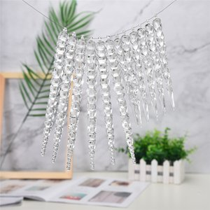Wholesale Acrylic Snowflake Christmas Wedding Tree Hanging Decoration Decoration For DIY Exquisite home furnishing practical