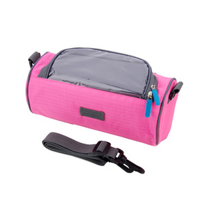 Wholesale NEW New Waterproof Mountain Bike Bicycle Bag Panniers Touches Screen Phone Case Cycling Front Tube Handlebar Bags
