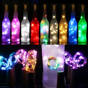 Wholesale 2M Leds LED Strings Cork Shaped Bottle Stopper Light Glass Wine LED Copper Wire String Lights Xmas Party Wedding Halloween