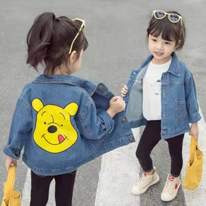 kids designer clothes girls 2019 autumn baby girls clothes cartoon cowboy coat medium and small girls clothing on Sale