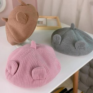 Children's Hat Spring New Cartoon Ears Knitted Beret High Quality Fashion Boys Girls Warm Painter's Hat