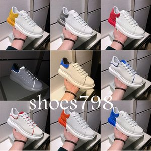 Wholesale with box Designer Luxury chain reaction rear floor Alexander silk matt leather casual men women shoes couples sports shoes