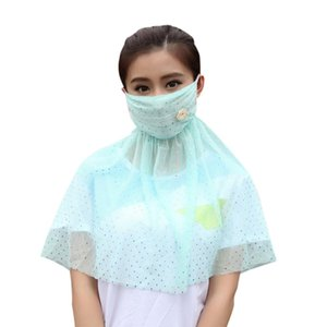 Wholesale Thin Large Pallium Summer Scarves Anti Uv Masks Riding Female Neck Protector Outdoor Breathe Freely Sunscreen Mask Girl