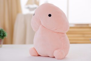 Wholesale Stuffed Animals cm Funny Plush Penis Toy Doll Soft Stuffed Creative Simulation Penis Pillow Cute Sexy Kawaii Toy Gift for Girlfriend