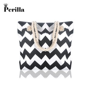 2019 Fashion Perilla Brand Casual Women Floral Large Capacity Tote Canvas Shoulder Bag Beach Bags Casual Tote Feminina Shopping Bags on Sale