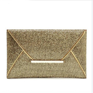 Wholesale Day Clutches Women Bags luxury Evening Party Bag Gold Sequins Envelope Bag Purse Clutch Handbags Shiny Solid bolsa feminina