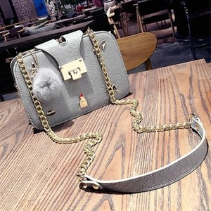 Wholesale Charm2019 Heat Spring Pin Small Square Baby Ball Pendant Woman Chain Clip Package Single Shoulder Satchel H969