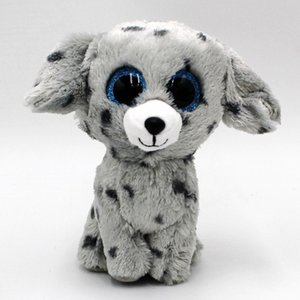 Wholesale TY Beanie Boos quot cm Black Dog Plush Beanie Babies Stuffed Animal Collectible Soft Big Eyes Plush Doll Toy