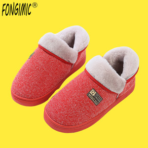 Wholesale FONGIMIC Winter Couple Slippers Men Women Cotton Slippers Shoes Cotton Slipper Autumn Male Female Foot Indoor Outdoor Home Shoes